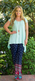 Everyday Fabulous Tee   -  Mint***FINAL SALE***