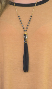 Hooked On You Necklace  -  Black