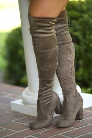 Talk Of The Town Boot  -  Taupe