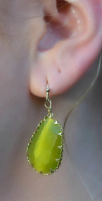 The Eye Of The Storm Earring  -  Green