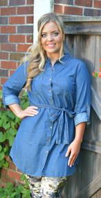 Denim Delight Tunic  - Med. Wash***FINAL SALE***
