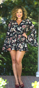 The Thrill Of It All Romper  - Black***FINAL SALE***
