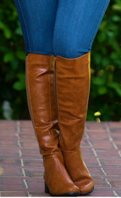 Kickin Up Dust Wide Calf Boot  -  Tan***FINAL SALE***