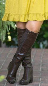 Kickin Up Dust Wide Calf Boot - Dark Brown***FINAL SALE***