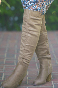 Best Foot Forward Knee Boots  - Taupe***FINAL SALE***