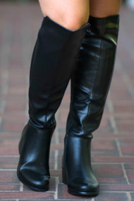 Kickin Up Dust Wide Calf Boot  -  Black***FINAL SALE***