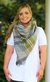 Touch And Go Blanket Scarf  -  Purple