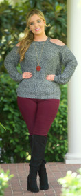 Feet By The Fire Sweater - Charcoal***FINAL SALE***
