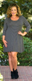Simplicity Is Key Tunic/Dress  -  Black & White***FINAL SALE***
