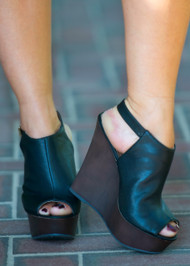 Holy Smokes Wedge  -  Black***FINAL SALE***