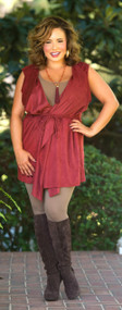 Twist And Shout Vest  -  Wine***FINAL SALE***