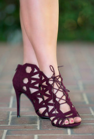 On Top Of The World Heel - Wine***FINAL SALE***