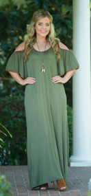 Dressed To The Max Maxi Dress - Olive***FINAL SALE***
