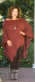 The Head Honcho Poncho  -  Rust***FINAL SALE***