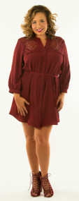 Salt Of The Earth Dress / Tunic - Wine***FINAL SALE***