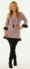 Looking For Trouble Tunic   -  Lilac***FINAL SALE***