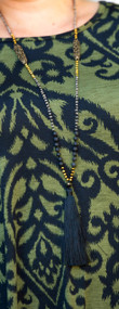 Tinsel Time Necklace  -  Black