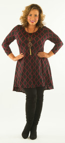 Lets Link Up Tunic - Black & Wine***FINAL SALE***