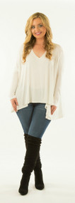 Any Day And Time Piko Top - Cream***FINAL SALE***
