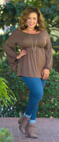 Tart With Heart Top  -  Taupe***FINAL SALE***