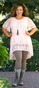 Kick Your Heels Up Tunic  -  Pink***FINAL SALE***
