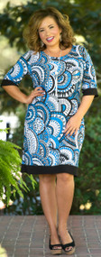 Boardroom Beauty Dress - Blue & Black***FINAL SALE***