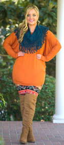 The Perfect Piko Top - Rust***FINAL SALE***