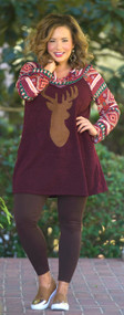 Opening Season Top - Burgundy***FINAL SALE***