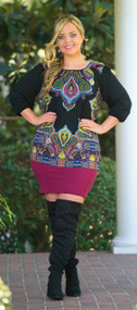 All Around Me Pencil Skirt   -  Burgundy***FINAL SALE***