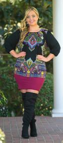 All Around Me Pencil Skirt   -  Burgundy***FINAL SALE***