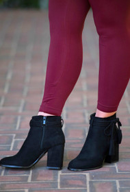 Perfect Pair Tassel Bootie  -  Black
