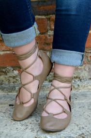 Prima Ballerina Shoe  -  Taupe
