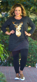 Hitting All Points Tunic  -  Grey
