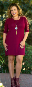 Call To Arms Tunic / Dress  -  Wine***FINAL SALE***