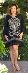 Written In Scroll Tunic - Black***FINAL SALE***
