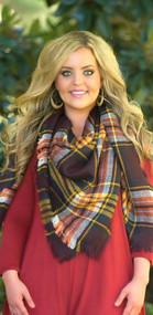 Touch And Go Blanket Scarf  -  Plum
