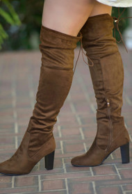 Cute To Boot Knee High Boots  -  Camel
