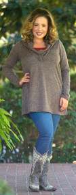 Silence Is Golden Top  -  Dusty Brown***FINAL SALE***