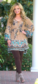 Woodsy Wonderland Tunic  -  Taupe***FINAL SALE***