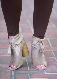 Heel To Toe Bootie  -  Taupe***FINAL SALE***