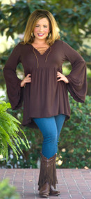 A Cowgirl Can Tunic  -  Brown