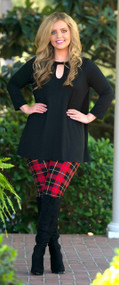 Holiday Happenings Top  -  Black