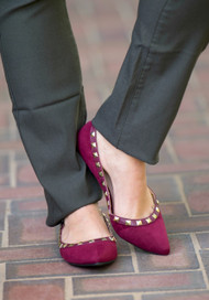 Rock Steady Ballet Flat  -  Wine***FINAL SALE***