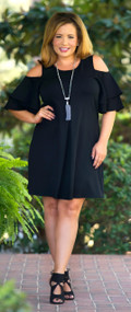 Perfect Illusion Dress - Black