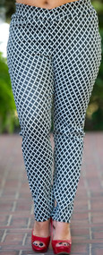 """X"" Marks The Spot Knit Pant - Black & Ivory***FINAL SALE***"