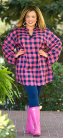Don't Rain On My Parade Tunic - Navy & Pink***FINAL SALE***