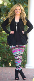 Ruffle Around The Edges Cardigan - Black