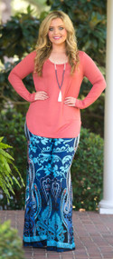 A World Away Palazzo Pants  -  Blue***FINAL SALE***