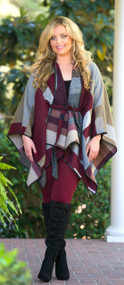 The Olivia Belted Poncho Jacket***FINAL SALE***