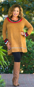 Gobble Gobble Tunic  -  Camel***FINAL SALE***